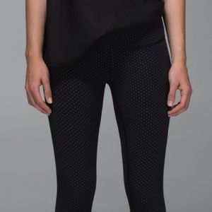 LULULEMON | Wunder Under, Teeny Dot Black White
